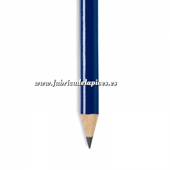 Imagen Redondo Goma Lápiz redondo de madera azul con goma