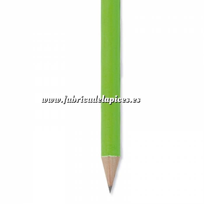 Imagen Redondo fluorescente goma Lápiz redondo de madera fluorescente verde con goma