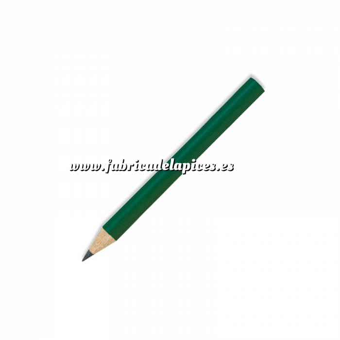 Imagen Redondo mini Lápiz pequeño redondo de madera color verde