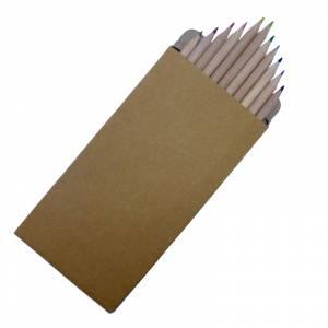 Cajas cartón - Caja 12 lápices de colores en madera