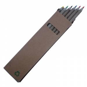 Cajas cartón - Caja 6 lápices ecológicos