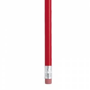 Imagen Redondo Goma Lápiz redondo de madera rojo con goma