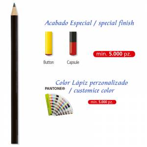 Imagen Redondo cedro Lápiz redondo de madera cedro negro