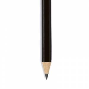 Redondo cedro jumbo y goma - Lápiz redondo jumbo de madera negro con goma