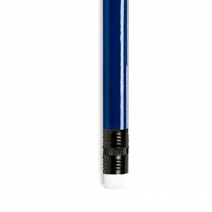 Redondo con goma - Lápiz redondo de plástico azul con goma