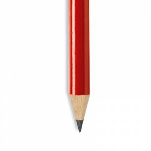 Imagen Redondo con goma Lápiz redondo de plástico rojo con goma