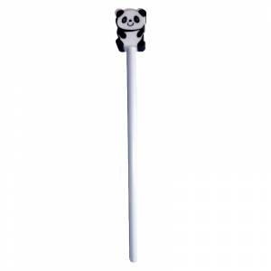 Redondo decorado - Lápiz redondo de madera con decoración panda