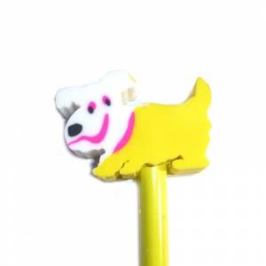 Redondo decorado - Lápiz redondo de madera con decoración perrito