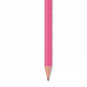 Redondo fluorescente goma - Lápiz redondo de madera fluorescente rosa con goma