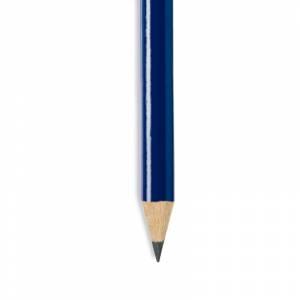 Imagen Redondo mini Lápiz pequeño redondo de madera color azul