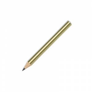 Redondo mini - Lápiz pequeño redondo de madera color dorado