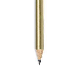 Imagen Redondo mini Lápiz pequeño redondo de madera color dorado