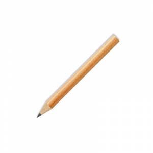 Redondo mini - Lápiz pequeño redondo de madera color natural