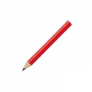 Redondo mini - Lápiz pequeño redondo de madera color rojo