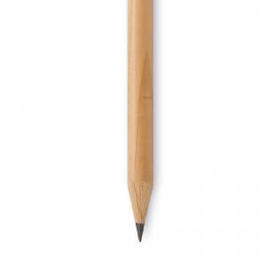 Redondo mini cedro - Lápiz pequeño redondo de cedro color natural