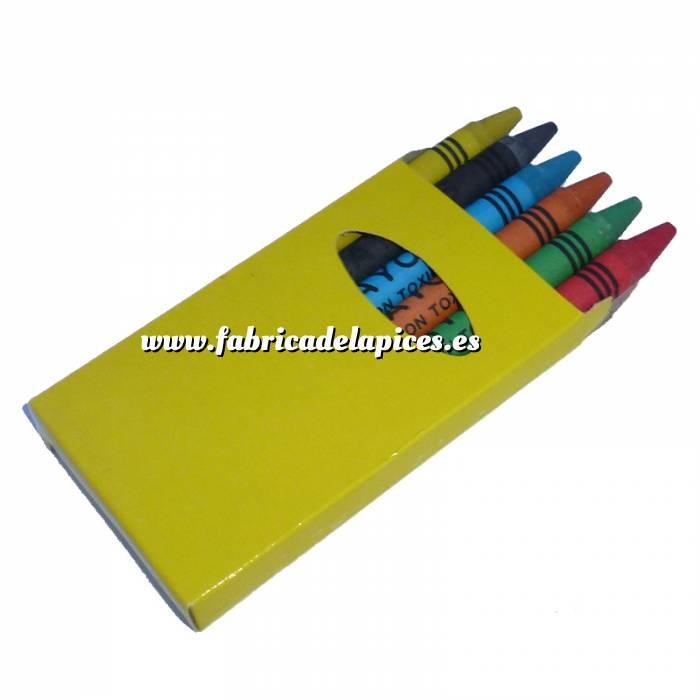 Imagen Cajas de Ceras Caja 6 ceras de colores caja amarilla