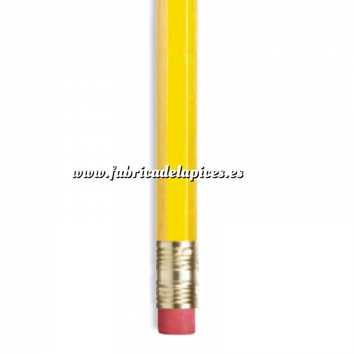 Imagen Hexagonal cedro con goma Lápiz hexagonal de madera cedro amarillo con goma