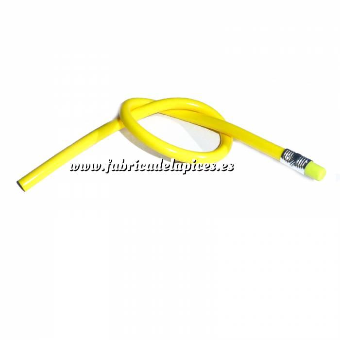 Imagen Lapices Flexibles Lápiz flexible redondo de plástico amarillo