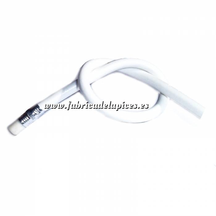 Imagen Lapices Flexibles Lápiz flexible redondo de plástico blanco