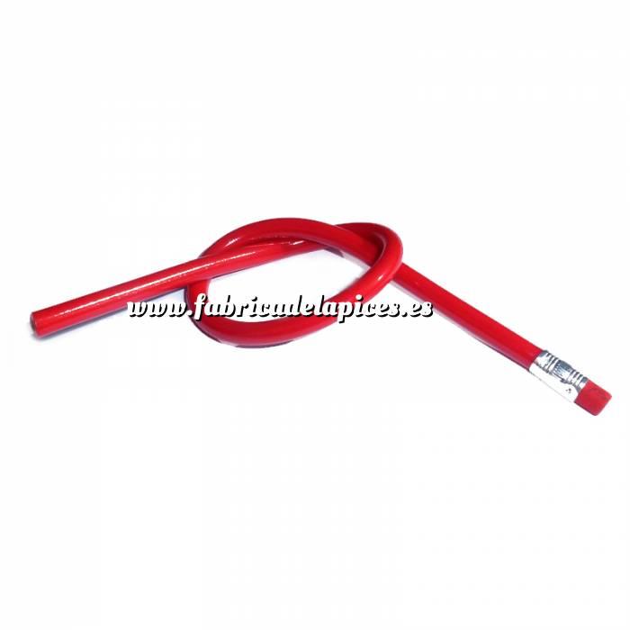 Imagen Lapices Flexibles Lápiz flexible redondo de plástico rojo