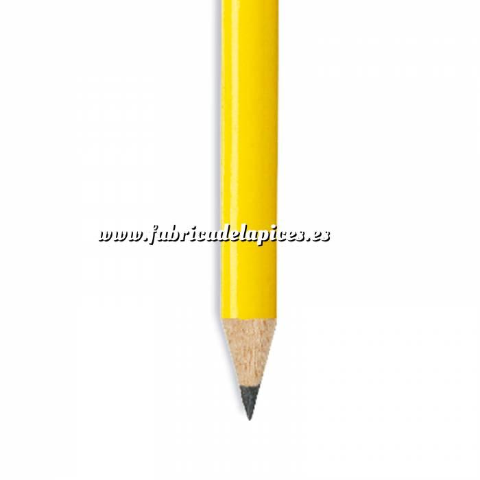 Imagen Redondo Goma Lápiz redondo de madera amarillo con goma