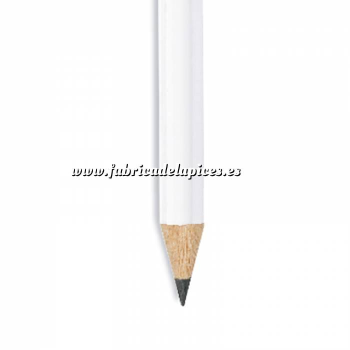 Imagen Redondo Goma Lápiz redondo de madera blanco con goma