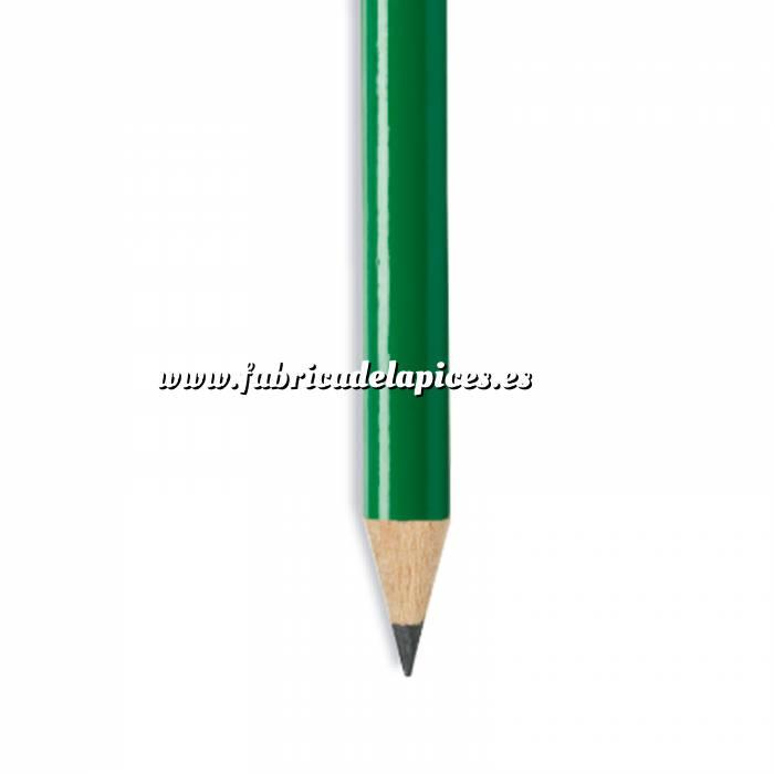 Imagen Redondo Goma Lápiz redondo de madera verde con goma