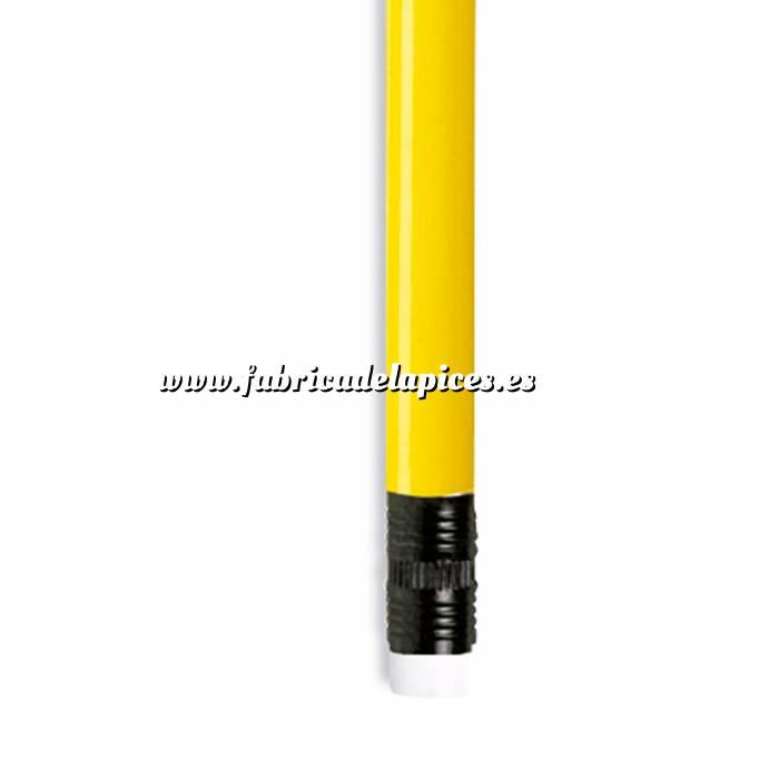 Imagen Redondo con goma Lápiz redondo de plástico amarillo con goma