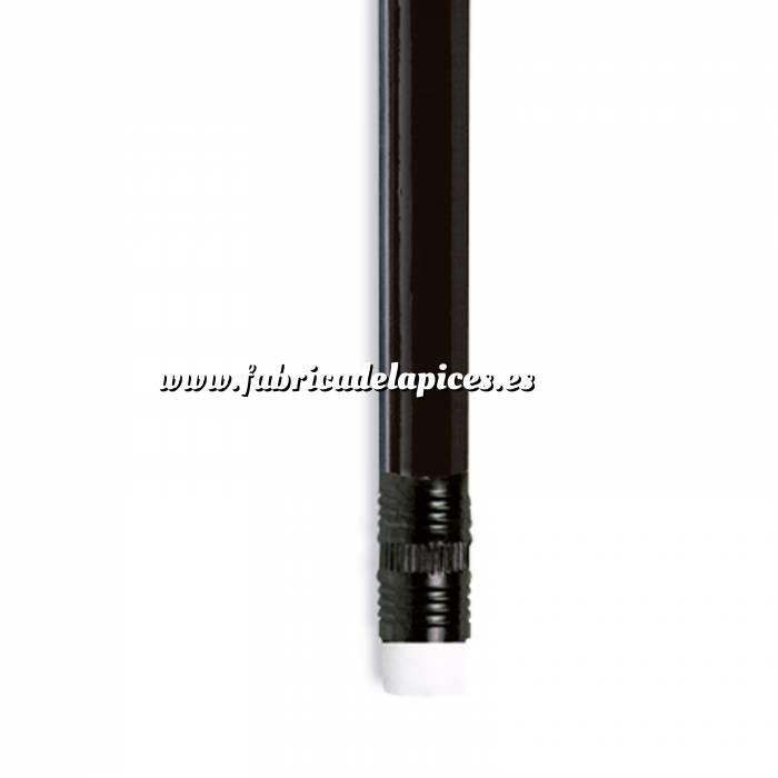 Imagen Redondo con goma Lápiz redondo de plástico negro con goma