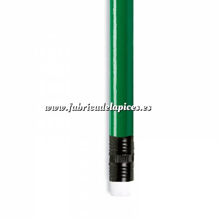 Imagen Redondo con goma Lápiz redondo de plástico verde con goma