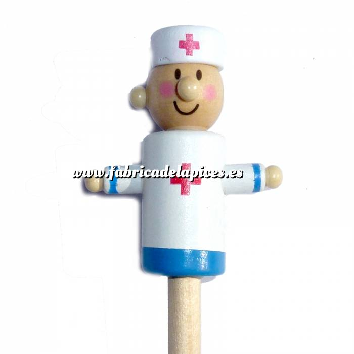 Imagen Redondo decorado Lápiz redondo de madera con decoración médico