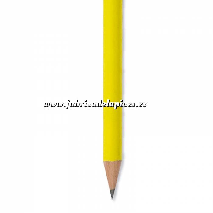 Imagen Redondo fluorescente goma Lápiz redondo de madera fluorescente amarillo con goma