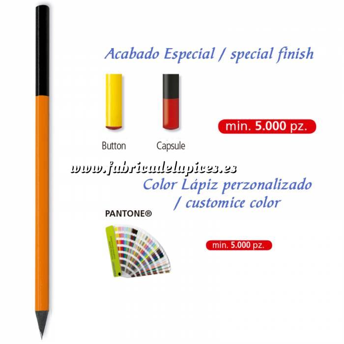 Imagen Redondo madera negra Lápiz redondo de madera color personalizado