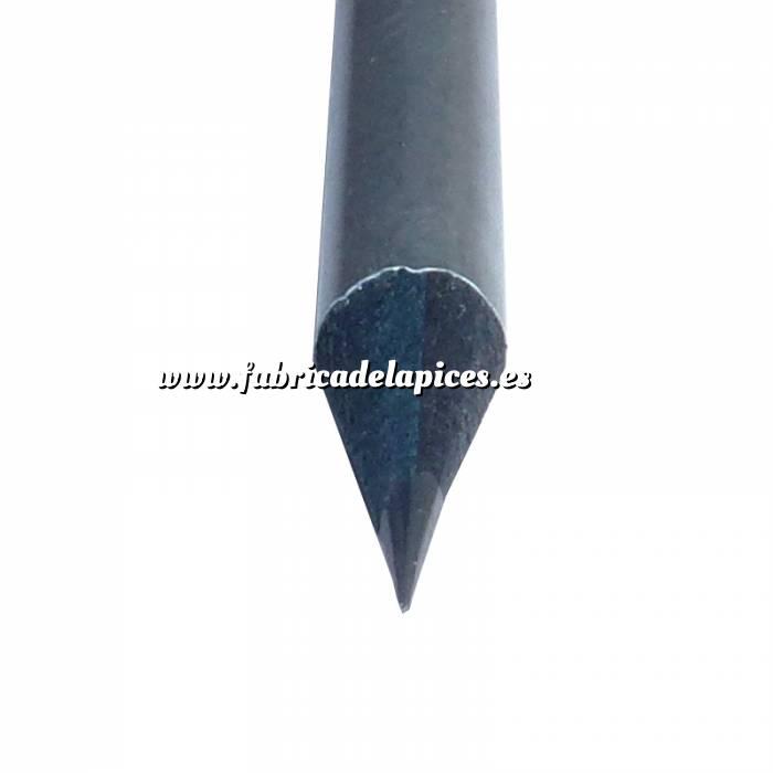 Imagen Redondo madera negra Lápiz redondo de madera plata