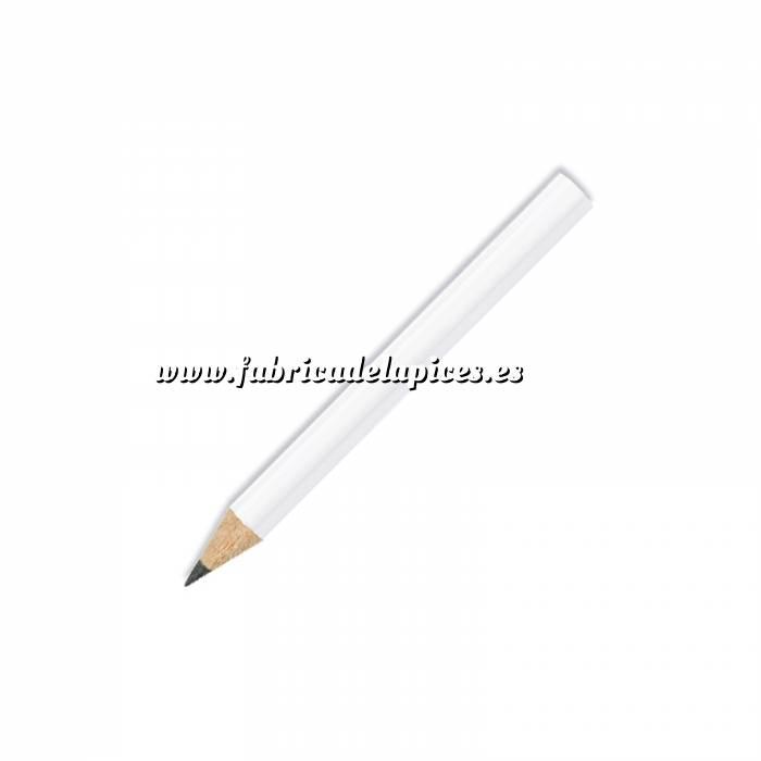Imagen Redondo mini Lápiz pequeño redondo de madera color blanco