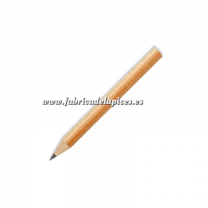 Imagen Redondo mini Lápiz pequeño redondo de madera color natural