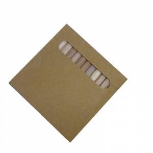 Imagen Cajas cartón Caja 12 lápices pequeños de colores en madera