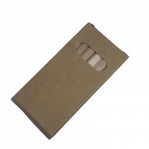 Imagen Cajas cartón Caja 6 lápices pequeños de colores en madera