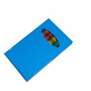 Imagen Cajas de Ceras Caja 6 ceras de colores caja azul