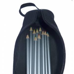 Estuches - Estuche de tela de 12 lápices de colores en madera