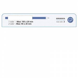 Imagen Redondo con goma Lápiz redondo de plástico plata con goma