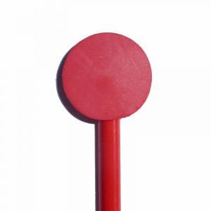 Redondo decorado - Lápiz redondo de madera con decoración círculo rojo