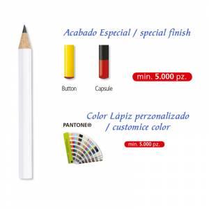 Imagen Redondo mini cedro Lápiz pequeño redondo de cedro color blanco