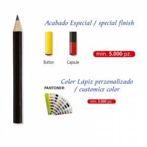 Imagen Redondo mini cedro Lápiz pequeño redondo de cedro color negro